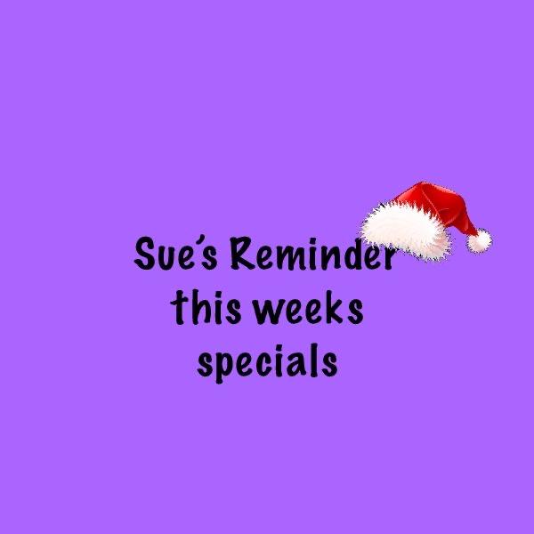 Reminder – Specials