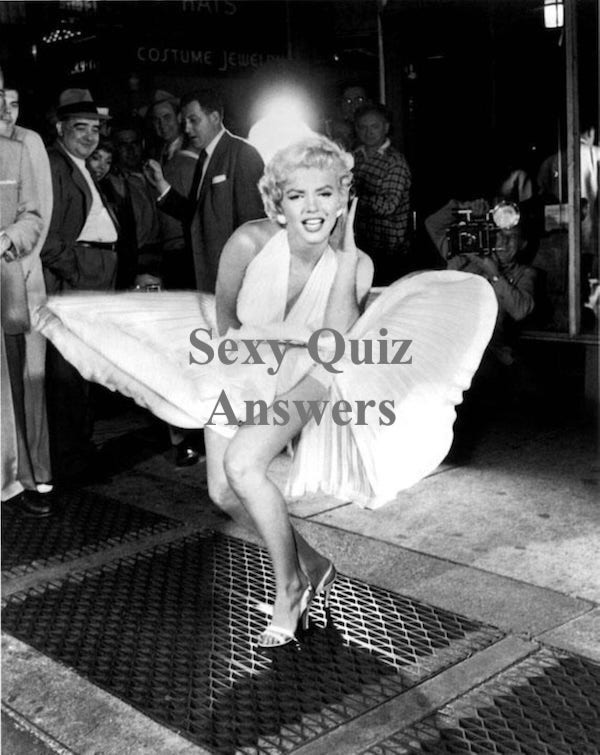 Sexy Quiz Answers